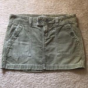 Abercrombie Green Corduroy Skirt